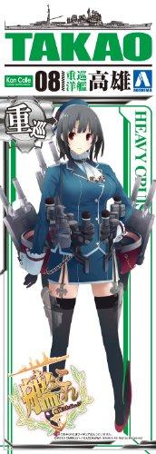 青島文化教材社 艦隊これくしょん No.8 重巡洋艦 高雄 1/700スケール プラモデル