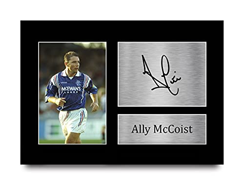 HWC Trading Ally McCoist Gift Signed A4 Printed Autograph Rangers Gifts Print Photo Picture Display