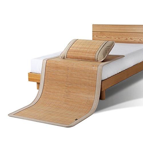 Bambou Mats 0,9 Mètres Simple Double 1,2 Mètres Siège 0,8 Mètre Dortoir 90 CM Étudiants Mats Pliant 1 Mètre Été Lisse Et Sans Bavures Frais et Confortable (sans Taies d'oreiller) Xuan - worth having