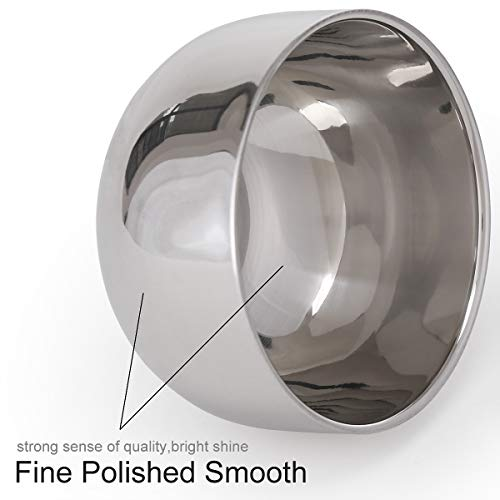 AKStore Men's Durable Shave Soap Cup Shinning High Quality Double Layer Stainless Steel Heat...
