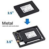 2.5' to 3.5' Drive Converter Internal Solid State SSD Card Hard Drive Bracket Adapter SATA SSD Enclosure Caddy Dock Desktop Mac PC 2.5 to 3.5 Mounting Hardrive for Samsung Crucial SanDisk ect SSD