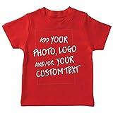 lepni.me Camiseta para Niño/Niña Regalo Personalizado, Agregar Logotipo de la Compañía, Diseño Propio o Foto (1-2 Years Rojo Multicolor)