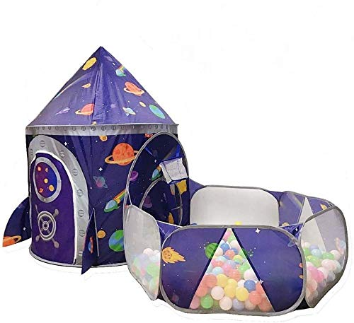 Sale!! ZSEFV Kids Play Tents Crawl Tunnels and Ball Pit Playhouse Tent for Indoor and Outdoor Use, P...