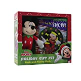 Disney Junior Mickey Mouse Clubhouse: Let It Snow! Holiday Gift Set: Book and Mickey Plush (Look and Find)