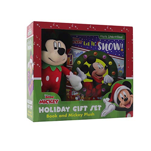 Disney Junior Mickey Mouse Clubhouse: Let It Snow! Holiday Gift Set: Book and Mickey Plush