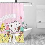 liangchunmei Badezimmer Duschvorhang Snoopy mit EIS Home Decor Duschvorhänge mit Haken 60 'X 72'