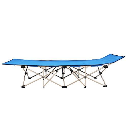 Cama plegable al aire libre de 10 pies azul