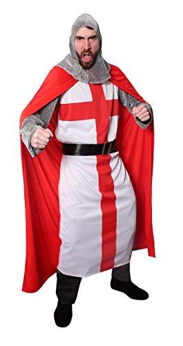 I LOVE FANCY DRESS LTD Disfraz DE Caballero DE San Jorge Traje TEMTICO DE Historia para Adultos (XL)