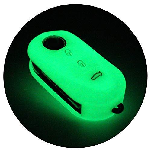 Finest-Folia - Cover ALA in silicone per chiavi auto a 3 tasti Si illumina di notte