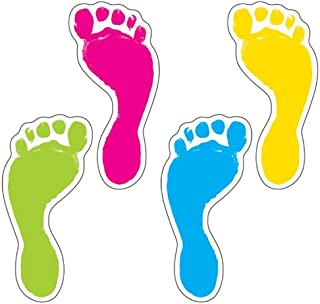 Carson Dellosa – Footprints Colorful Cut-Outs, Classroom Décor, 54 Pieces