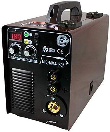 Mig Mag / Mma Máquina Soldadora 230V MIG-180 Igbt Inverter Careta Soldar Soldadura Martillo