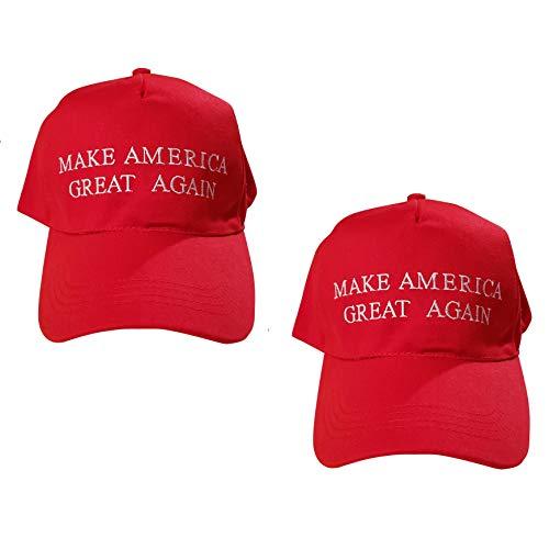VaLuz MAGA Make America Great Again Donald Trump USA Flag Baseball Cap Hat Red (2)