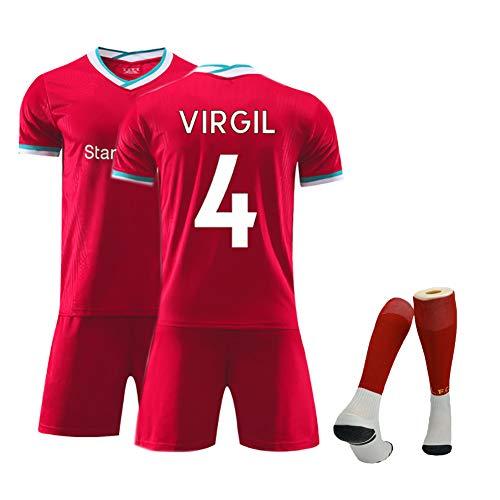 Verano niños Camiseta de fútbol Liverpool Jersey 2021 Nuevo hogar Masculino Adulto niños de Manga Corta Traje de fútbol Traje de Entrenamiento Traje de fútbol Uniforme