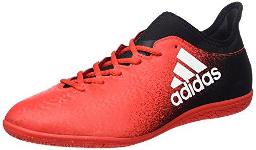 adidas X 16.3 in, Scarpe da Calcio Uomo, Rosso (Red/ftwr White/core Black), 42 EU
