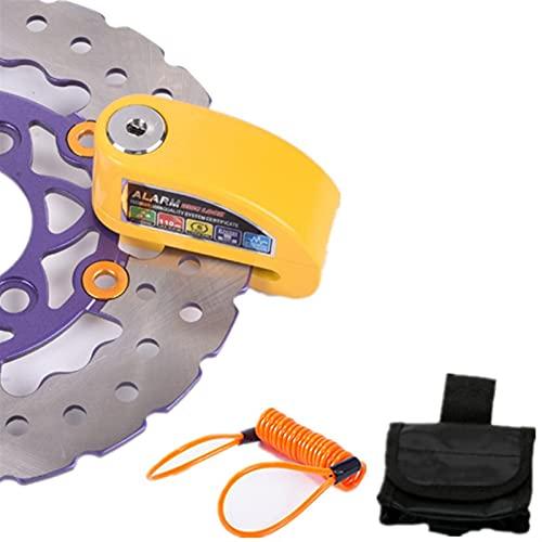Blocco antifurto Allarme della serratura del freno della ruota impermeabile del motociclo della sicurezza del motociclo della sicurezza del motociclismo + cavo del promemoria e borsa di blocco dell'al