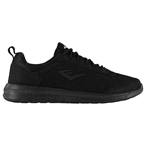 Everlast Sama - Zapatillas de correr para hombre (transpirables), color Negro, talla 44 EU