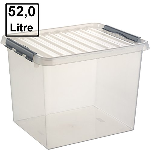 6 x SUNWARE Q-Line Box - 52 Liter - 500 x 400 x 380mm - transparent