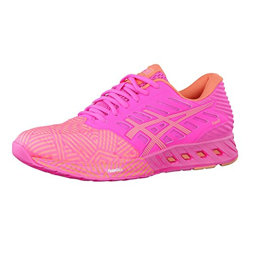 Asics Fuzex, Damen Laufschuhe, Pink (Hot Pink/Peach Melba/Hot Pink), 37 EU (4 UK)