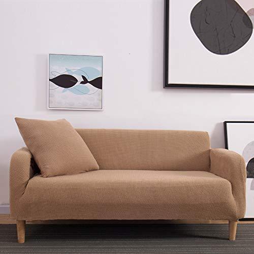 NOBCE Impresión de la Cubierta del sofá Fundas de sofá elásticas Fundas de sofá para Sala de Estar Sofá de Esquina Toalla Funda de sofá Funda de Muebles marrón 235-300CM