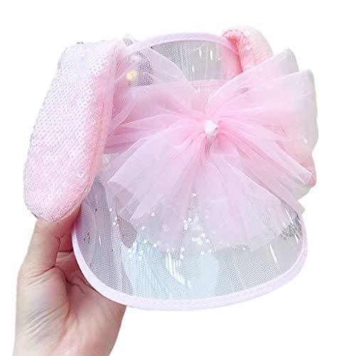 PING Kids plegable sombrilla tapa linda personalidad vacía superior sombrero de sol bebé niños linda decoración sombreros respirables dibujos animados, 5, M