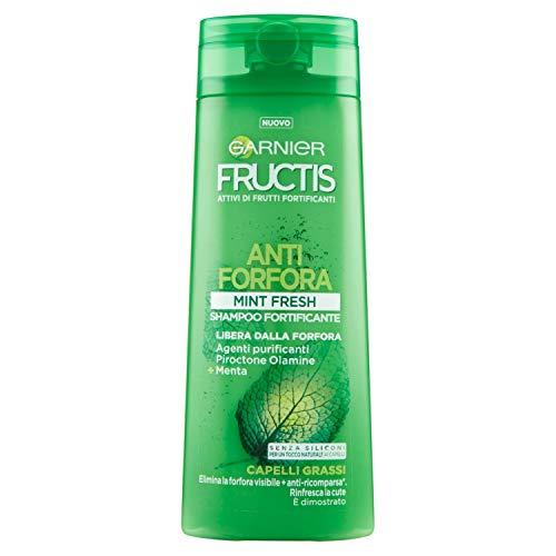 Garnier Fructis - Champú anticaspa mentol Fresh, anticaspa y antibacteriano, 250 ml