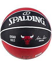 Spalding NBA Team Chicago Bulls Ball 83583Z; piłka do koszykówki unisex; 83583Z_5; czerwona; 5 EU (5 UK)