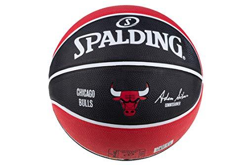 Spalding NBA Team Chicago Bulls 83583Z - Balón de Baloncesto Unisex, Color Rojo, Talla 5 EU