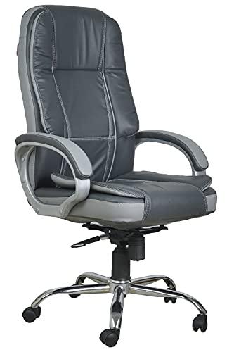 Casa Copenhagen Premium High Back Leatherette Executive Office/Ergonomic Chair/Director Chair- Dark Grey & Light Grey