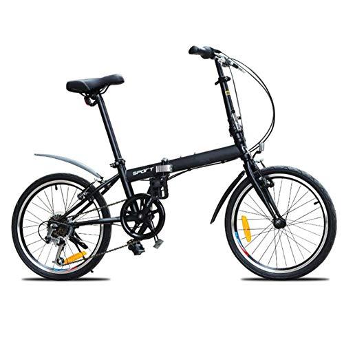 Bicicleta De Velocidad Variable De 20 Pulgadas Bicicleta Deportiva Plegable Portátil Rueda...
