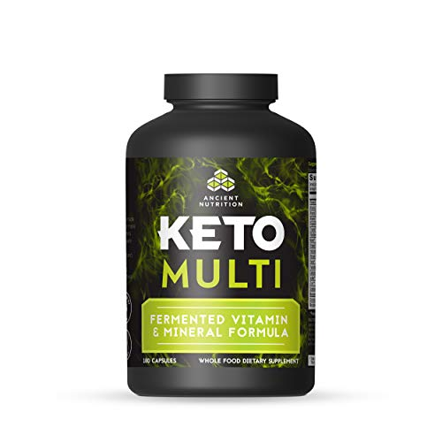 Ancient Nutrition KetoMULTI Vitamin and Mineral Supplement, 180 Capsules — Daily Multivitamin Designed for The Keto Diet…