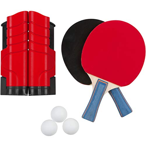 Review Trademark Innovations Portable & Lightweight Ping Pong Game Set (Red)