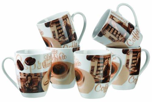 Mäser, Serie Latte Macchiato, Kaffeebecher 280 ml, Tassen im 6-er Set