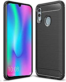 Huawei Honor 10 Lite Black Tpu Carbon Fiber Designed Case Cover