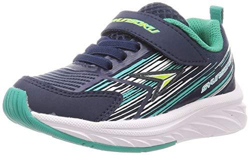 [シュンソク] スニーカー 運動靴 幅広 軽量 15~25cm 3E キッズ 男の子 SJJ 8940 ネイビー 20.5 cm