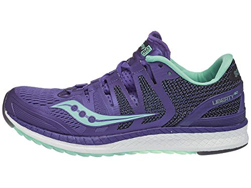 Saucony Liberty ISO Stabilitätsschuh Damen-Lila, Mint, Zapatillas de Running Zapato de Estabilidad Mujer, Violet/Aqua, 38.5 EU