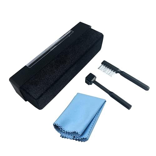 VINNAR Kit limpiador de discos de vinilo,cepillo de limpieza antiestático de terciopelo,kit limpiador de registro antiestático 4 en 1,cepillo de vinilo con paño de limpieza de registros