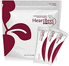 Beetroot Powder + More - for Blood Pressure & Circulation w/Beetroot, L-arginine, L-citrulline, CoQ10 & Turmeric. 30 Ind. Serv. Natural HeartBeet Complete™.