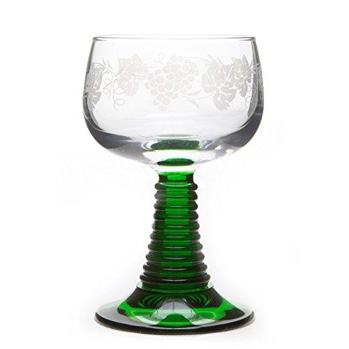 6 Bicchieri da Vino d Alsazia Roemer con Motivo GRAPPOLI D uva
