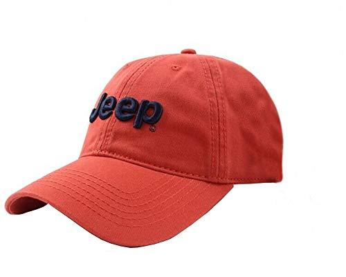 Jeep Unisex Adjustable Horizon Classic Cap (Red, Free Size)