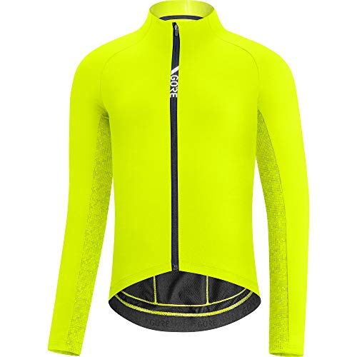 GORE WEAR Herren Thermo Fahrrad-Trikot, C5, XL, Neon-Gelb/Grün