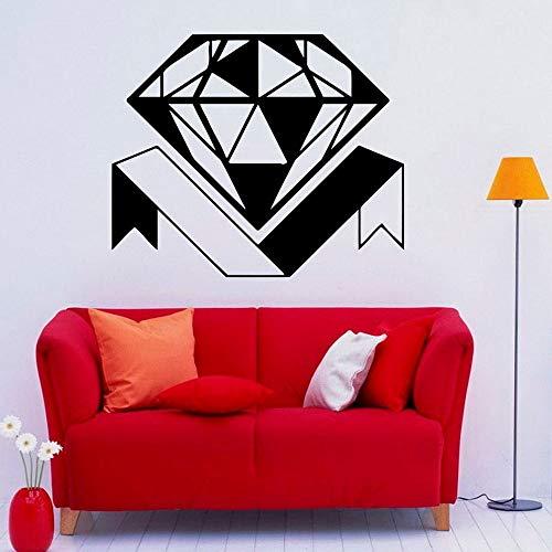 ganlanshu Diamant wandtattoos Diamant Glas schmuck Shop dekorative wandaufkleber Wohnzimmer Schlafzimmer innen herausnehmbare hauptdekoration Aufkleber 122 cm x 102 cm