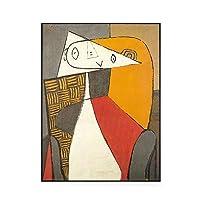 ピカソのマスターの壁画抽象的なフィギュアの壁の絵の壁の絵画のファンタジーモダンなミニマリストのリビングルームの装飾的な絵 0128 (Color : A, Size : 50×70cm)