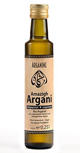 Amazigh-Argani Bio Arganöl 250ml ungeröstet, kaltgepresst, nativ, aus eigener Produktion