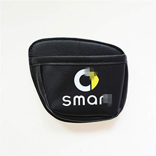 XHSM Sacchetto di Immagazzinaggio Auto Borsa del Telefono Chiave Monete Bagagli Decorativo del Sacchetto per Smart Fortwo 453 Forfour Car Styling Accessori Interni Decorazione Auto (Color : Nero)