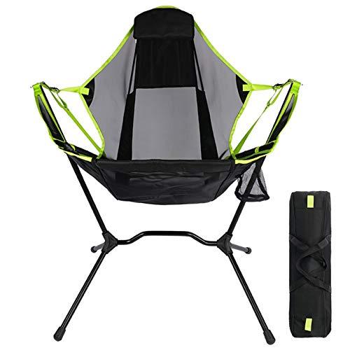 XUFAN Silla Plegable portátil Pesca Liviana Camping Barbacoa Sillas de BBQ Senderismo Sillón de aleación de Aluminio Home Jardín sillas Plegables (Color : Black)