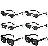 LAKIND gafas pixeladas 6-pack gafas de sol mosaico Mosaico Ojo Vintage...