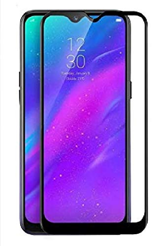 DD SON 6D/11D Full Glue Edge to Edge Tempered Glass Screen Protector with Installation Kit for Oppo A5s, 2019 (Black)