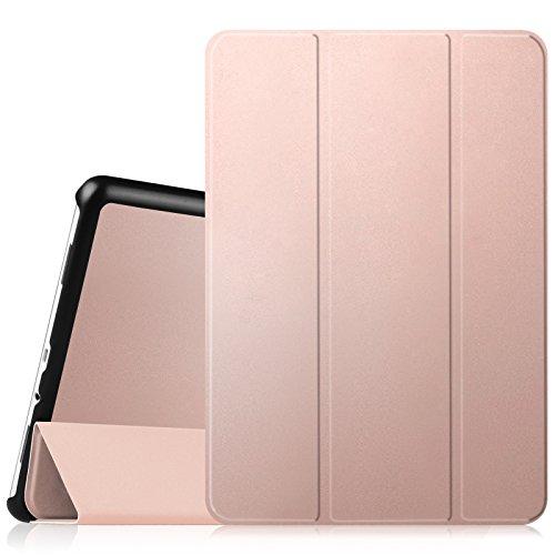 """Fintie SlimShell Funda para Samsung Galaxy Tab A 9.7"""" - Súper Delgada y Ligera Carcasa con Función de Soporte y Auto-Reposo/Activación para Modelo SM-T550N / T555N, Oro Rosa"""