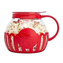 cheap Micro-Pop Popcorn Popper Original Solution Borosilicate Glass for Microwave Ovens, 3-in-1 Silicone Lids,…