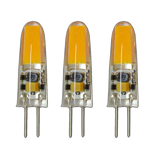 3x Stück - G4 mini LED 2 Watt 12V AC/DC warmweiß aus Silikon (Silica Gel) Lampe Leuchte Leuchtmittel dimmbar Halogenersatz